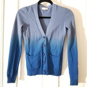 Urban Outfitters Blue Ombre Cardigan Sweater